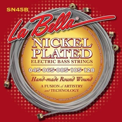 LaBella SN45-B Nickel Rounds 5-String 45-128 Extra-Long Scale