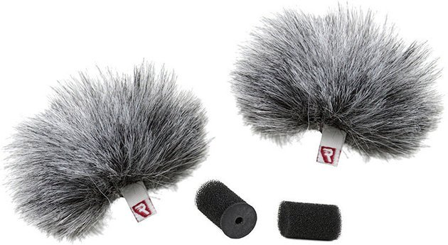 Rycote Grey Lavalier Windjammer Pair