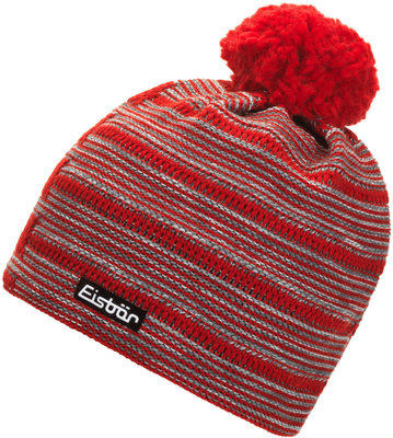 Eisbär Ethan Pompon Red/Anthracite/Grey/White
