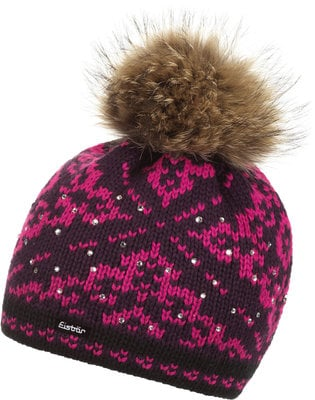 Eisbär Dalia Fur Crystal Womens Black/Purple/Pink