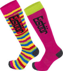 Eisbär Jr Comfort 2 Pack Socks Fuchsia/Lime