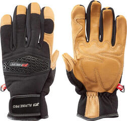 Zanier Hochgall Ski Gloves Black-Brown
