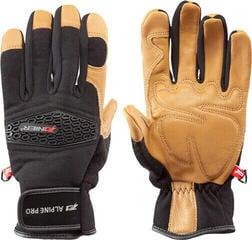 Zanier Hochgall Ski Gloves Black-Brown