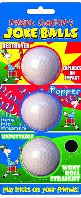 Longridge Golfer'S Joke Balls - 3 Pcs