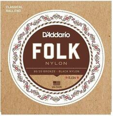 D'Addario EJ34 Folk Nylon Ball End