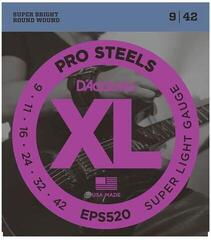 D'Addario EPS520 ProSteels Super Light 09-42