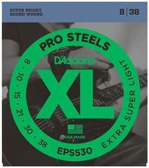 D'Addario EPS530 ProSteels Extra-Super Light 08-38