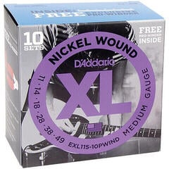 D'Addario EXL115 Nickel Wound Medium 10pcs