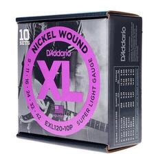 D'Addario EXL120 Nickel Wound Super Light 10pcs