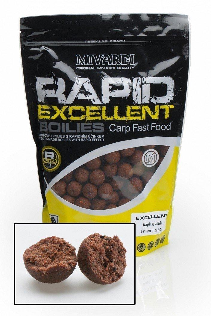 Mivardi Rapid Boilies Excellent - Carp Goulash (950 g / 24 mm)