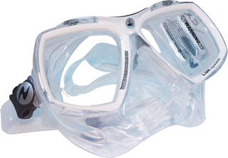 Technisub Mask Look 2 - White + Transparent Sil.