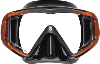 Scubapro Mask Crystal VU - Sil. Black - Black/Orange