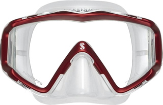Scubapro Mask Crystal VU - Sil. Transp. - Red