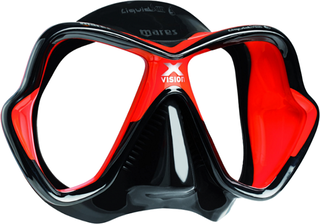 Mares Mask X-VISION LiquidSkin - Sil. Black/Red