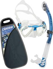 Cressi Set Penta & Alpha Ultra Dry-Transp./Blue