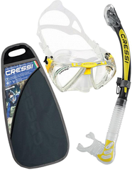 Cressi Penta & Alpha Ultra Dry Clear/Yellow