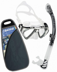 Cressi Set Penta & Alpha Ultra Dry-Transp./Black