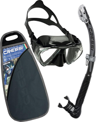 Cressi Set Penta & Alpha Ultra Dry-Black
