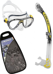 Cressi Set Big Eyes Evolution & Alpha Ultra Dry - Transp./Yellow