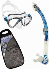 Cressi Big Eyes Evolution & Alpha Ultra Dry Clear/Blue