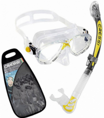 Cressi Marea & Alpha Ultra Dry Clear/Yellow