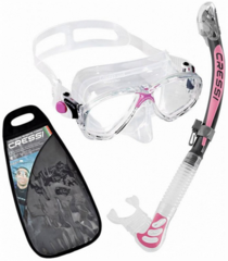 Cressi Marea & Alpha Ultra Dry Clear/Pink