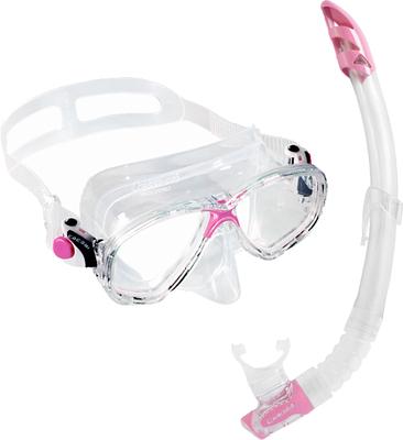 Cressi Set Marea VIP + snorkel Gama - Transp./Pink