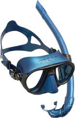 Cressi Set Mask Calibro + snorkel Corsica - Blue