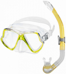 Mares Combo Wahoo Clear/Reflex Yellow