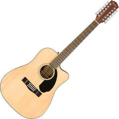 Fender CD-60SCE Dreadnought 12-string WN Natural