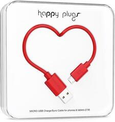 Happy Plugs Micro-USB Cable 2m Red