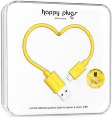 Happy Plugs Micro-USB Cable 2m Yellow