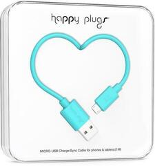 Happy Plugs Micro-USB Cable 2m Turquoise
