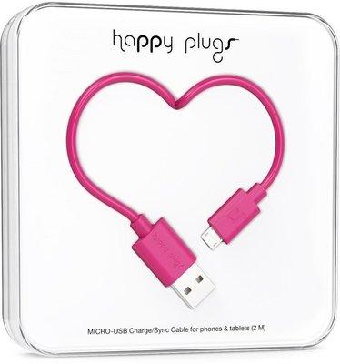 Happy Plugs Micro-USB Cable 2m Cerise