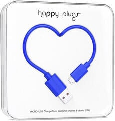 Happy Plugs Micro-USB Cable 2 m Cobalt
