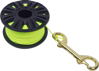 Aropec 30 m Reel with Carabine Yellow