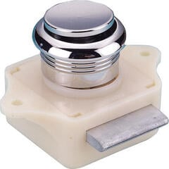 Talamex Push Button Chrome Plated Plastic
