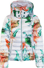 Sportalm Exotic Womens Jacket with Hood and Fur Optical White 42