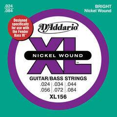 D'Addario XL156 Nickel Wound Fender Bass VI 24-84