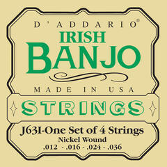 D'Addario J63I Irish Tenor Banjo Nickel Strings 12-36