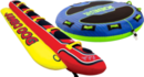 Aufblasbare Ringe, Boote, Bananen